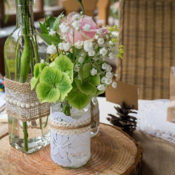 Hochzeitsdekoration, rustikal Hochzeit feiern