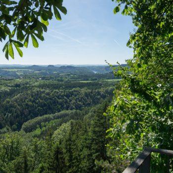 Brandaussicht, Blick auf das Elbtal, Sächsische Schweiz