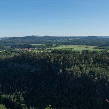 Panorama Brandaussicht, Balkon der Sächsischen Schweiz