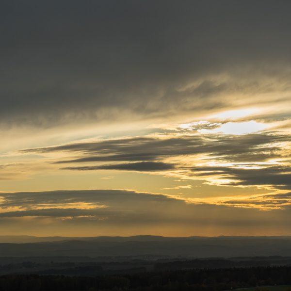 Abendlicht am Aussichtspunkt Hohburkersdorfer Linde