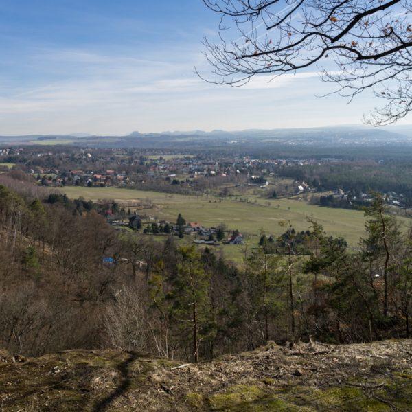Ausblick in das Elbsandsteingebirge