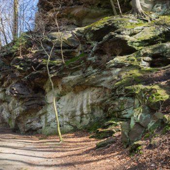 Felswände am Bärengarten, Beginn des Rundweges