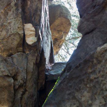 Formen des zerklüfteten Sandsteins