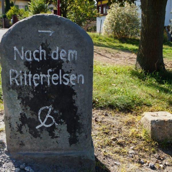 Nach dem Ritterfelsen Hohnstein