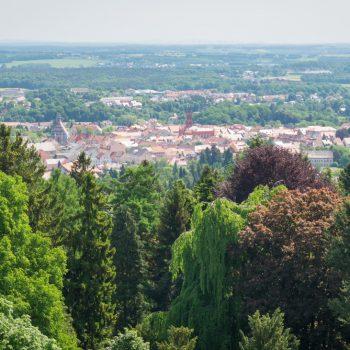 Ausblick vom Hutberg auf die Stadt Kamenz