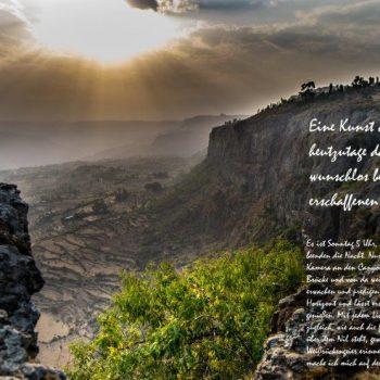 Paragliding in Afrika, Landschaft in Äthiopien