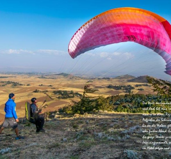 Paragliding in Afrika, Reisedoku in der Heidemühle Dresden