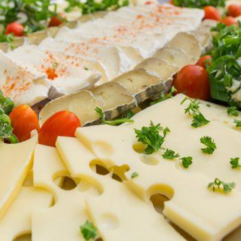 Kalte Platten, gemischte Käseplatte