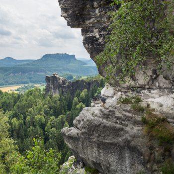 Ausblick in Richtung Mönch und Lilienstein
