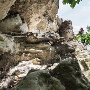 zerklüfteter Sandstein am Plattenstein, Elbsandsteingebirge