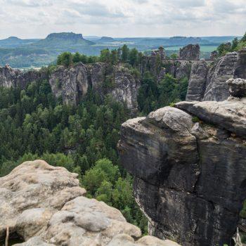 Ausblick auf die Wehlnadel und die Bastei
