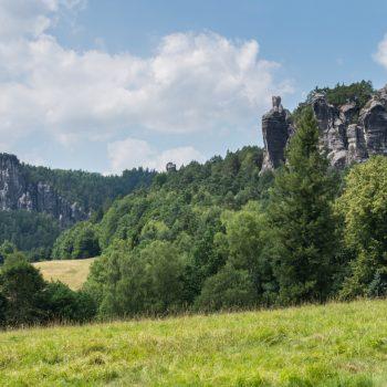 Blick von Rathen in Richtung Gansfels
