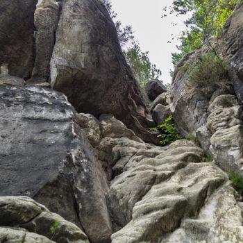 Aufstieg zwischen dem hinteren Gansfels und dem Plattenstein