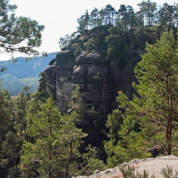 Blick vom Gipfel des Kleinen Lorenzstein zum Großen Lorenzstein