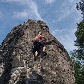 Gamrig, Klettern an der Gamrigscheibe, Alter Weg, Elbsandsteingebirge