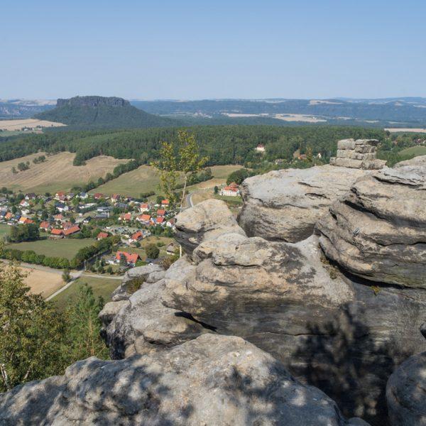 Ausblick vom Pfaffenstein in Richtung Lilienstein