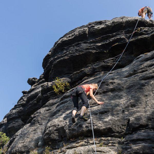 Klettern am Pfaffenkopf AW, Pfaffenstein