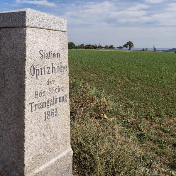 Opitzhöhe bei Tharandt, historischer Triangulationspunkt
