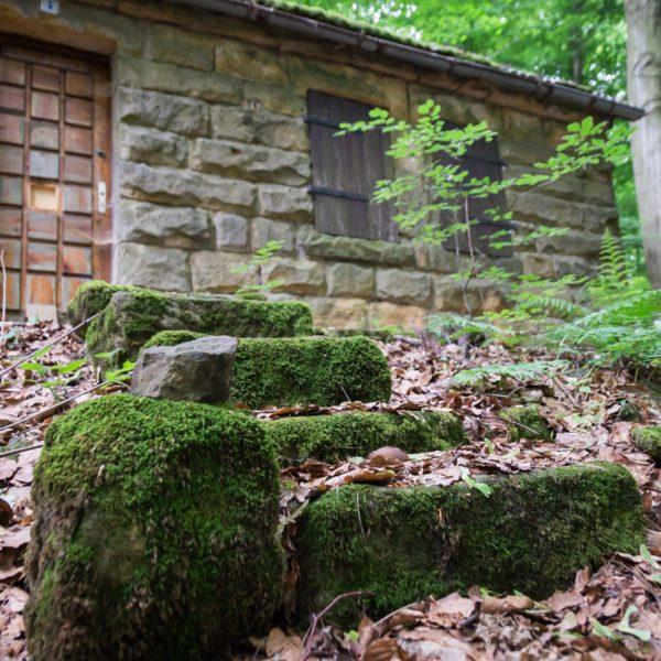 verlassene Hütte am Hausberg