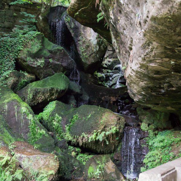 Lichtenhainer Wasserfall im Kirnitzschtal, Wanderung Kuhstall