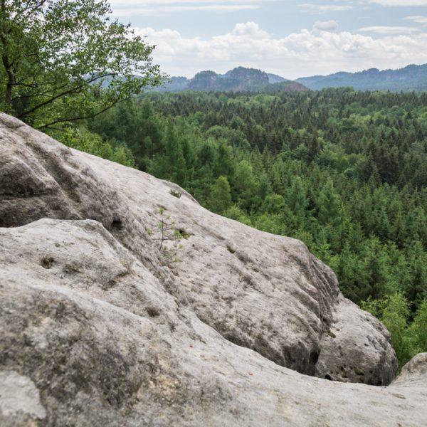 Ausblick in Richtung Lorenzsteine, Wanderung Kuhstall
