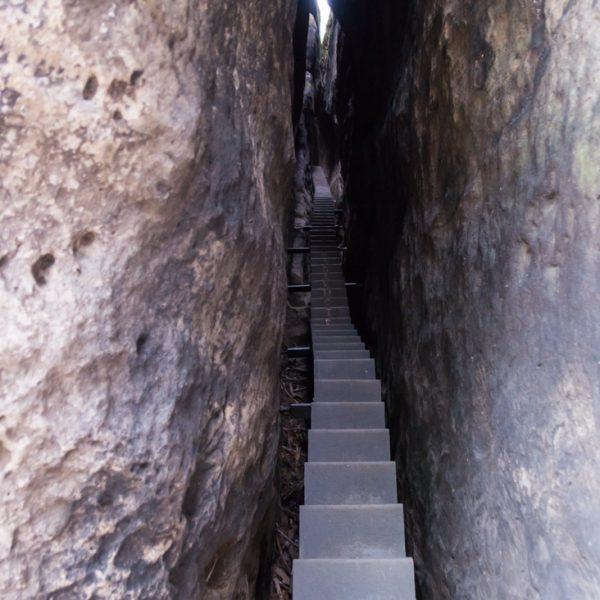 Aufstieg über die Himmelsleiter, Wanderung Kuhstall