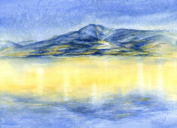 Blauer Berg | Aquarellfarbe auf Papier | 650 x 450 mm | 2011