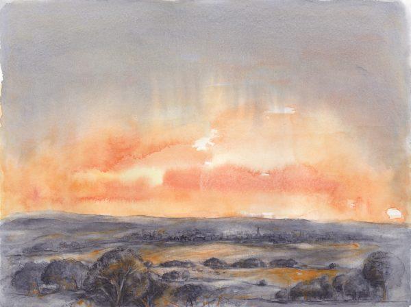 Sonnenaufgang 2 | Aquarellfarbe auf Papier | 400 x 300 mm | 2011