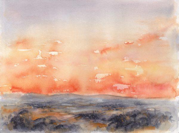Sonnenaufgang 3 | Aquarellfarbe auf Papier | 400 x 300 mm | 2011