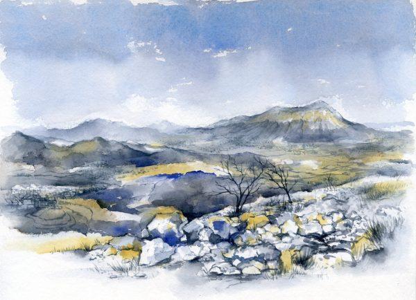 Berglandschaft | Aquarellfarbe auf Papier | 400 x 300 mm | 2015