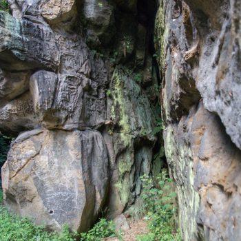 Felsenwelt am Wanderweg, Malerweg im Liebethaler Grund