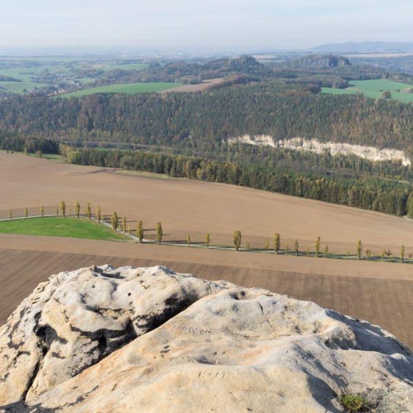 Ausblick vom Lilienstein auf die Bärensteine