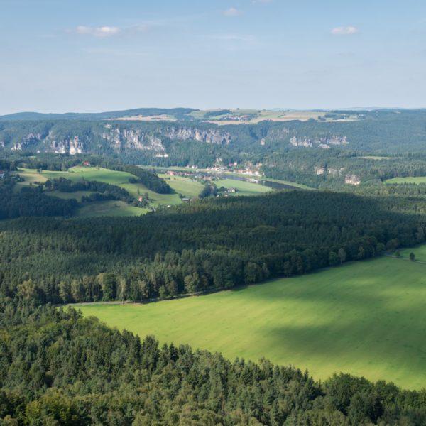 Ausblick vom Lilienstein in Richtung Bastei