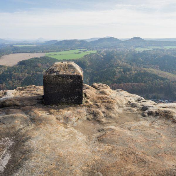 Ausblick vom Lilienstein zu Papststein und Gorisch