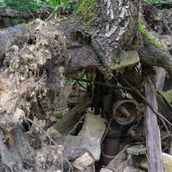 Ruine gegenüber des Steinbruchs, Lohmener Klamm