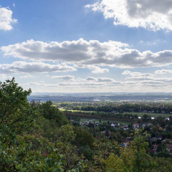 Ausblick vom Zuckerhut, Schönfelder Hochland