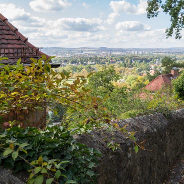 Ausblick auf Dresden, Elbhang bei Dresden (nahe Hausberg)