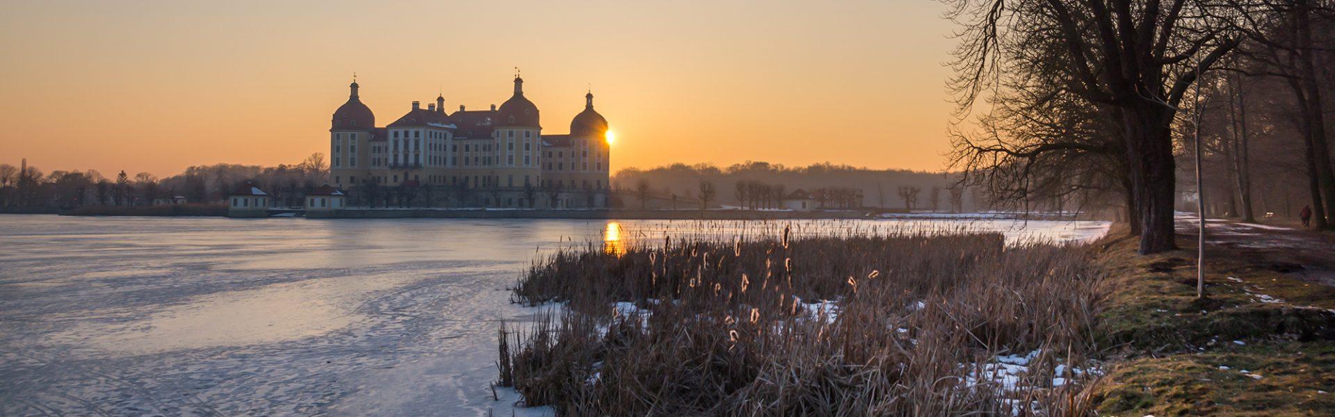 Schloss Moritzburg Sonnenuntergang