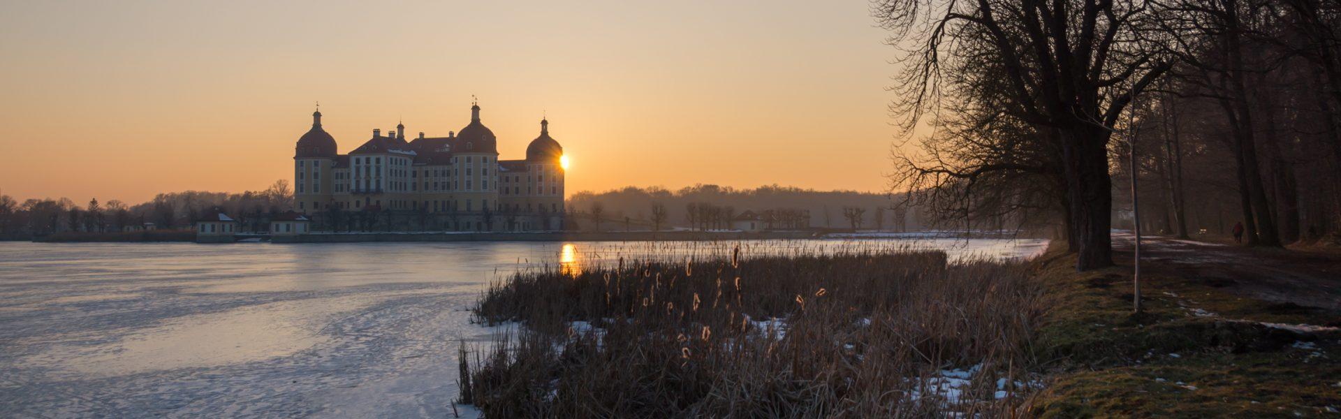 Moritzburg, Spaziergang am Schlossteich