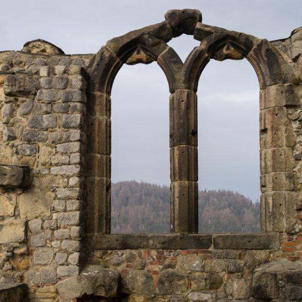 Bibliotheksfenster der Burg Oybin