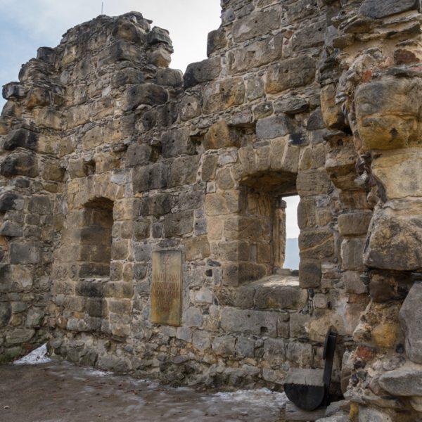 Mauern der Burg Oybin