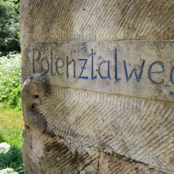 Polenztalweg an der Heeselichtmühle