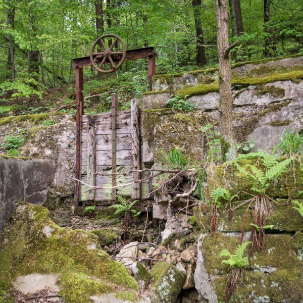 Alter Mühlgraben in der Nähe von Haus Sternkopf im Polenztal