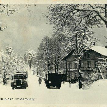 Heidemühle und Radeberger Landstraße um 1924