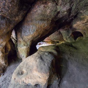 Felsformation nahe der Baumannhöhle am Quirl
