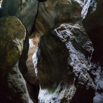im Inneren der Baumannhöhle am Quirl
