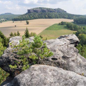 Ausblick vom Quirl in Richtung Pfaffenstein