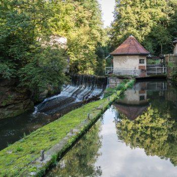 Spiegelung an der Daubemühle, Liebethaler Grund