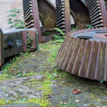 Zahnräder an der Daubemühle, Liebethaler Grund