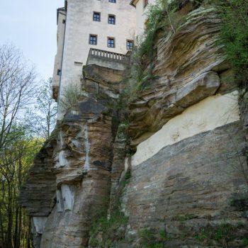 Schloß Lohmen auf dem Felsen